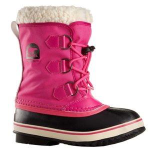 Sorel Yoot Pac Nylon Hot Pink Waterproof Girl Boot
